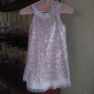 Biscotti Girls Formal/Bridal Blush/Rose Gold Dress